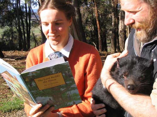 Fanny and Lord Builds House Tasmanian Devil for blog