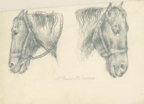Edwin_Landseer_two_studies_of_a_horses_head_1810