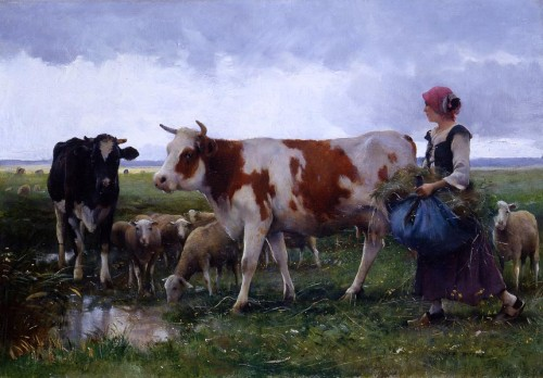 peasant_woman_with_cows_&_sheep-large