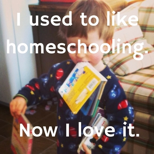 I used to like homeschooling, now I love it