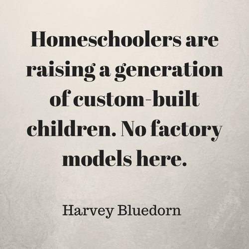 Homeschoolers are raising a generation of custom-built children – no factory models here.