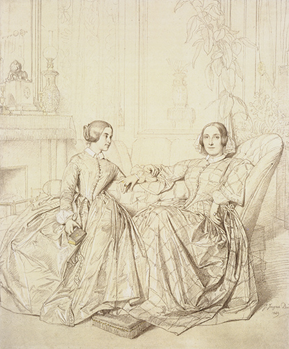Jean Auguste Dominique Ingres comtesse_charles_dagoult,_nee_marie_de_flavigny,_and_her_daughter_claire_dagoult-huge