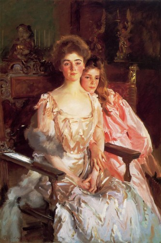 John Singer Sargent mrs._fiske_warren_and_her_daughter_rachel-large